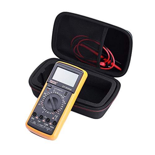 Estuche para multímetro digital, funda protectora de la bolsa de transporte EVA PU Hard Travel, estuche de almacenamiento para el multímetro digital Fluke F117C / F17B + / F115C, negro