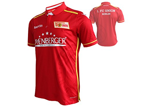 Macron 1.FC Union Berlin Home Jersey -2016/17- 1.FCU Heim Trikot rot/weiß - Eisern Union (Outdoor Nike Ball Basketball)