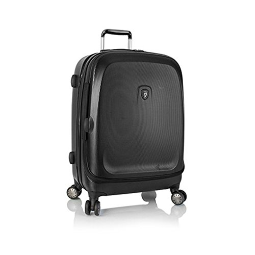 ... 50% SALE ... PREMIUM DESIGNER Hartschalen Koffer - Heys Crown Smart Gateway Lila - Trolley mit 4 Rollen Medium Schwarz