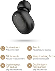 Metermall New GT1 Pro TWS Earphones Touch Control Bluetooth5.0 HD Stereo Sound Wireless Headphone with 800mAh Charging Box
