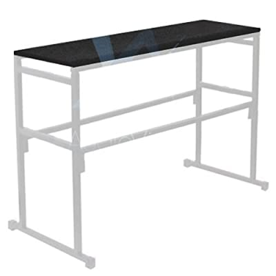 Gorilla Stands 4FT 1.2M Black Carpet board shelf for DJ Disco Lighting Stands (SHELF ONLY) - low-cost UK light store.
