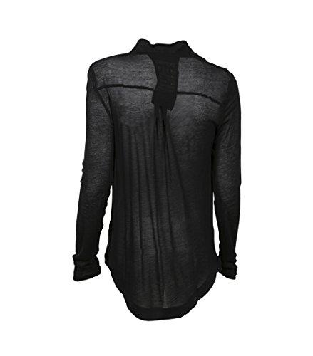 GWYNEDDS Damen Langarmshirt Zora in Schwarz Black