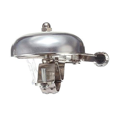 Lmeno Retro Fahrradklingel Fahrradglocke Fahrrad Glocke Klingel Lenker Bike Bell Ring aus Aluminium Rund Form Design (Schwarz/Gold)
