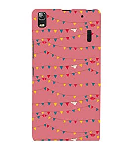 printtech Abstract Lines Design Back Case Cover for Lenovo K3 Note