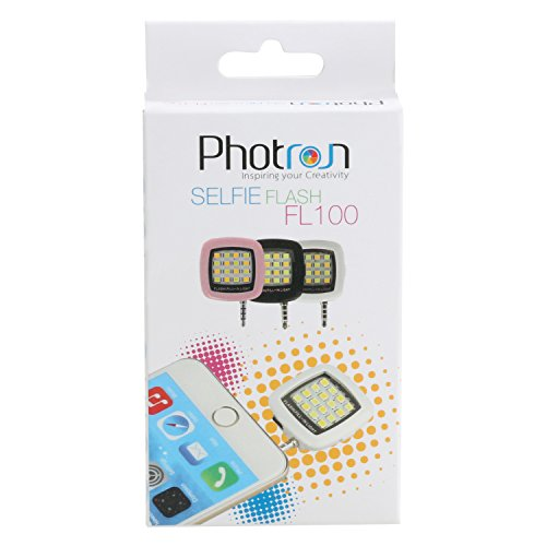 Photron FL100 Portable 16 LED Selfie Enhancing Dimmable Flash Fill-in Light, Torch (Black)