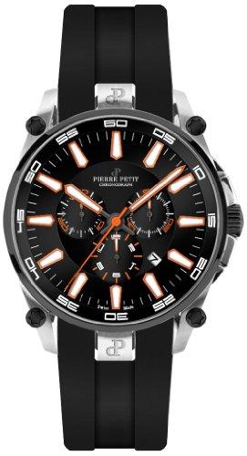 Pierre Petit Herren-Armbanduhr XL Le Mans Chronograph Quarz Silikon P-817D