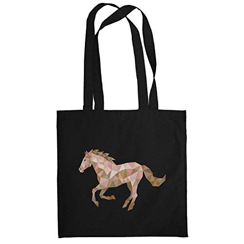 Texlab–Poly Horse–sacchetto di stoffa Nero