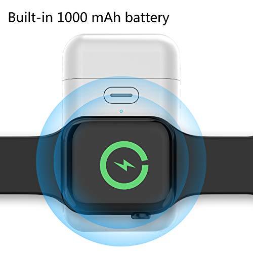 CaseFirst Tragbares USB-Ladegerät für Apple Watch, 1000 mAh, kabelloses Ladegerät, kompatibel mit Apple iWatch Serie 4 3 2 1 44 mm 40 mm 42 mm 38 mm (MFi) - Nike Watch Plus Frauen