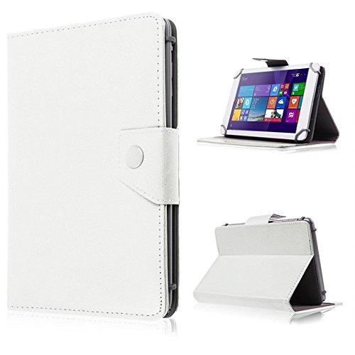 UC-Express Tasche für Odys Lux 10 Hülle Case Schutz Tablet Cover Schutzhülle Universal Bag, Farben:Weiß