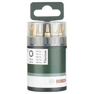 Bosch 2609255978 DIY Schrauberbitset 10-teilig 25 mm, Titanium