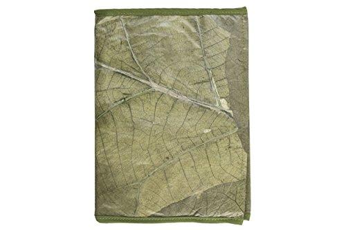 Preisvergleich Produktbild Notizbuch aus Teakblättern (grün) - Accessoires aus Baumblättern: Endlich alltagstauglich