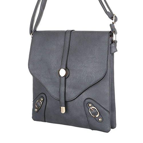 Damen Tasche, Schultertasche, Kleine Handtasche, Kunstleder, TA-B46 Grau