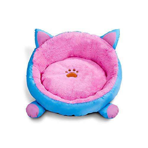 Katze-Ohr-Form-Haustier-Bett M rosa/blaues Kitty-Welpen-Nest mit weichem Kissen abnehmbares Ohr-Entwurfs-Hundekatze-Schlafenbett -