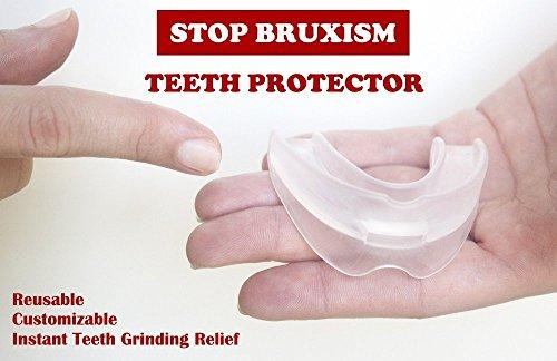 Protège-dents professionnel contre bruxisme, pour une protection contre le bruxisme - gouttière de protection dentaire – protège contre : le grincement des dents, le bruxisme et le serrement des dents