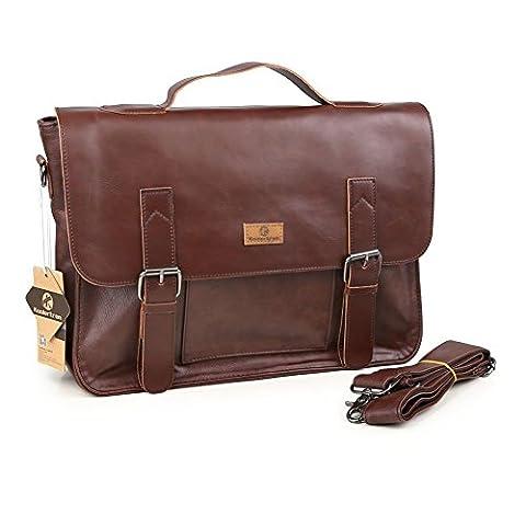 Koolertron sac message sac à main sac bandoulière sac cartable en simili cuir pour Homme