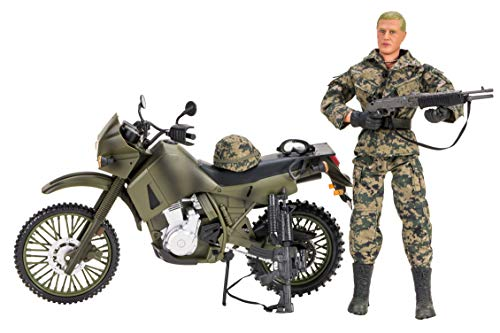 World Peacekeepers Men Action Figures with Humvee Cars | 30,5cm High | 1: 6 Scale | Combat Army Soldiers with Accessories | Intended for children and adults