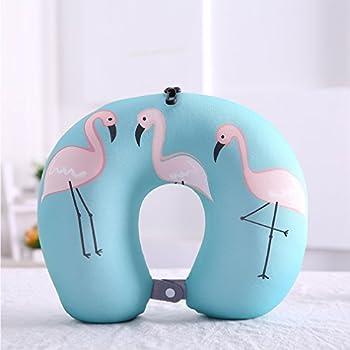 Boyann Flamingo Mikroperlen Nackenhörnchen U-förmigen Reisekissen Bücherkissen Muster 7 2