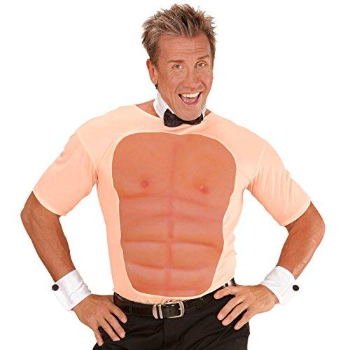 JGA Shirts Männer Sixpack Muskel Kostüm Tshirt Waschbrettbauch Stripper Outfit Junggesellenabschied Verkleidung Muskel T-Shirt Adonis