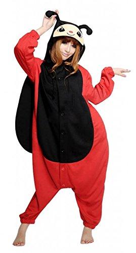 Honeystore Unisex Erwachsene Kostüm Siamesische Kleidung Party Pyjamas Marienkäfer Jumpsuit Schlafanzug M (Einfach Marienkäfer Kostüm)
