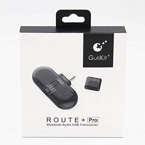 Bluetooth Adapter, Audio Transmitter Empfänger mit Mikrofon für Nintendo Switch - Route+ Pro Kabelloser USB-C Bluetooth Audio Dongle für Wireless Headsets, TV, Laptop, Kopfhörer, Lautsprecher, AirPods (Bluetooth Headset Für Pro Macbook)
