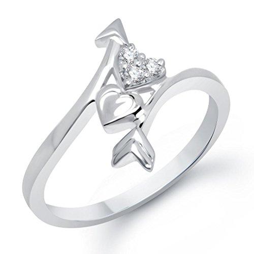 VK Jewels Cupid's Arrow in Heart Shape Combo Ring & Pendant- COMBO1060R [VKCOMBO1060R]
