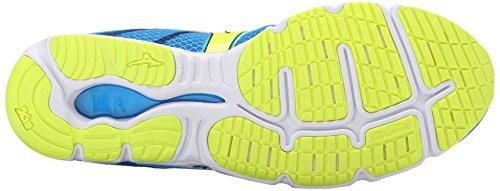 Mizuno Wave Hitogami 3 Toile Chaussure de Course DivaBlue-SafetyYellow-DressBlues