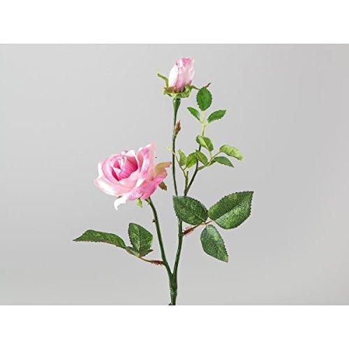 Formano Kunstblume Rose künstlicher Rosenzweig PINK rosa H. 40cm