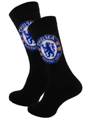 Official Football Merchandise 2 PAIRS OF OFFICIAL FOOTBALL TEAM SOCKS (6 to 11 MENS, CHELSEA)