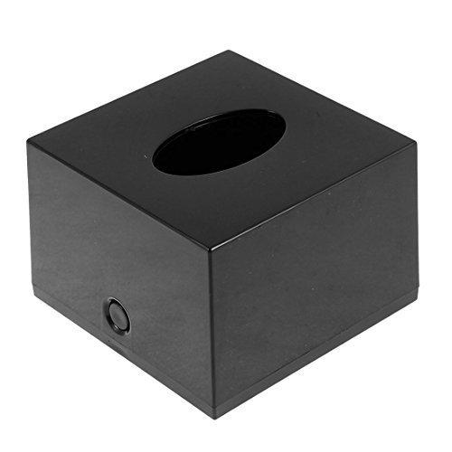 DealMux Kunststoff Cube Haushalt Bar Papier-Gewebe-Kasten-Halter-Behälter Schwarz (Schwarzer Gewebe-kasten-halter)