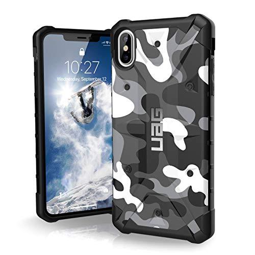 Urban Armor Gear Pathfinder Schutzhülle nach US-Militärstandard für Apple iPhone Xs Max (Camo weiß/schwarz)[Qi kompatibel, Verstärkte Ecken, Sturzfest, Antistatisch, Vergrößerte Tasten]- 111107114060 -