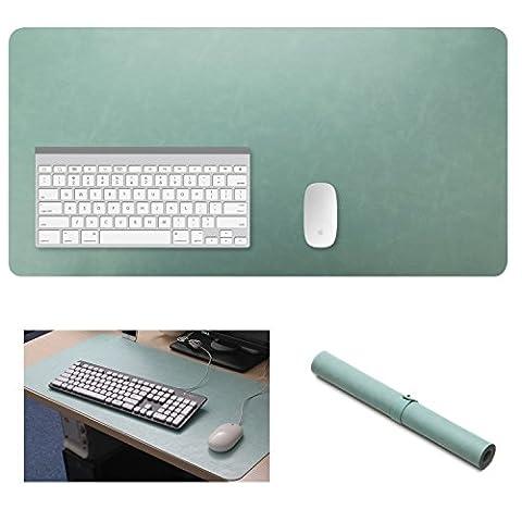 Yikda Extended Cuir Gaming Mouse Pad/Tapis de cuir, grande ordinateur de bureau Table à écrire, Tapis de tapis de souris, étanche, Ultra mince de 1,2mm–80x 39,9cm
