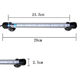 Weksi® Aquarium Lumière 29cm 12LED 3W 5050 SMD Blanche Light Fish Etang Etanche Eclairage Aquarium LED UE Plug