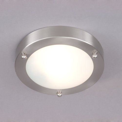Image of Mari Flush Bathroom Light - Stainless Steel