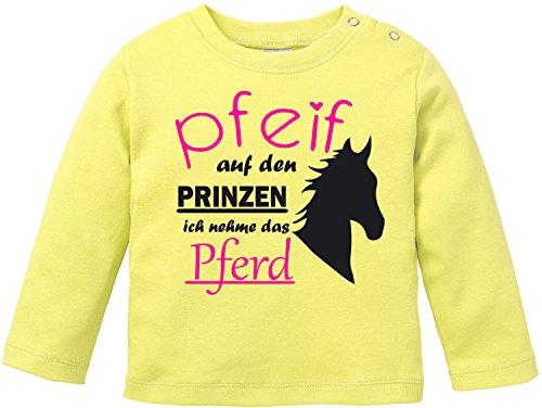 EZYshirt® Pfeif auf den Prinzen ich nehm das Pferd Baby Shirt Longsleeve