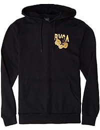 RVCA Mens Panther N Roses Felpa con Cappuccio Nero L a8b66e4b05c