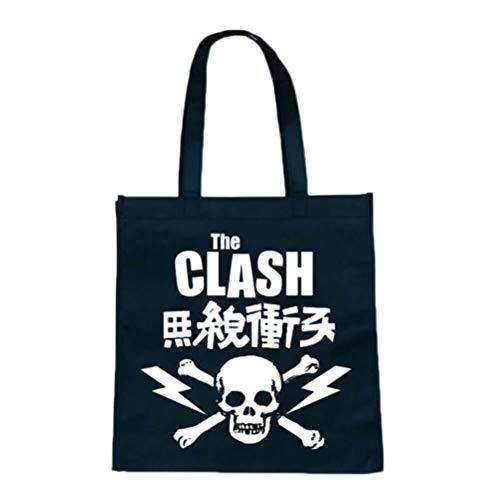 Clash-Skull Logo on Black Canvas Bag