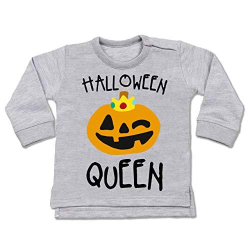 Shirtracer Anlässe Baby - Halloween Queen Kostüm - 6-12 Monate - Grau meliert - BZ31 - Baby Pullover (2019 Gruppe Halloween-kostüme Ideen,)