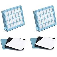 Kit de Filtros para aspiradoras Philips PowerPro Active y Compact. Reemplaza