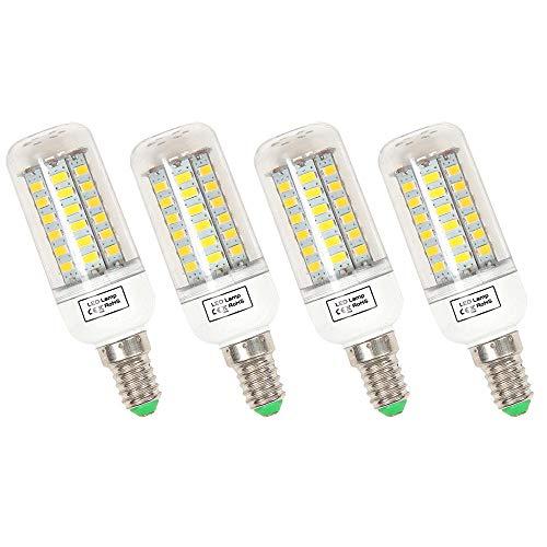 BayLee 4 Stück E14 9W LED Lampe Leuchtmittel 56LEDs Birne Beleuchtung Mais Licht 1200 Lumen 220V Warmweiss 3000K Maiskolben Energiespar Licht