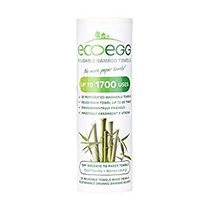 Ecoegg Re-usable Bamboo Towels, White