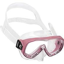 Cressi Kids' Piumetta Premium Diving/Snorkeling Mask, Transparent/Pink, 3-7 Years