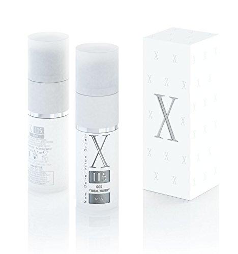 X115 Anti Falten Creme für Männer, Hyaluronsäure, Vitamin C, Kollagen, 1er Pack (1 x 15 ml)