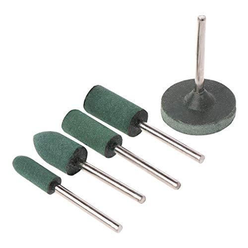 5 Stück/Set Schleifstein für Dremel Drehwerkzeuge Schleifstein Felgenkopf für Dremel Zubehör Schleifwerkzeug
