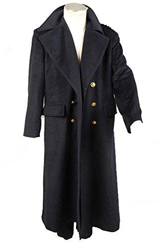 Doctor Who Dr. Black Wool Trench Coat Cosplay Kostüm Herren Maßanfertigung (Capaldi Dr Who Kostüm)