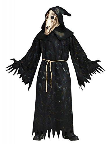 l Demon Herren-Kostüm inkl. Pferde Totenkopf-Maske Horror Killer Halloween Gr. XL-3XL ()