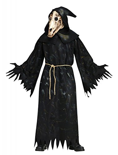 shoperama Horse Skull Demon Herren-Kostüm inkl. Pferde Totenkopf-Maske Horror Killer Halloween Gr. XL-3XL