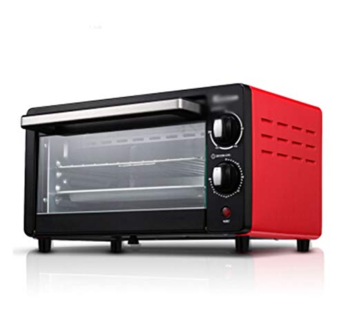 THOR-BEI Electric Oven Home Mini Multi-function Pizza Baking Cake Oven -14 oven (color : Red)