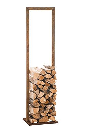 CLP Metall-Kaminholzständer SIDONE V2 rost, 60 x 100 cm