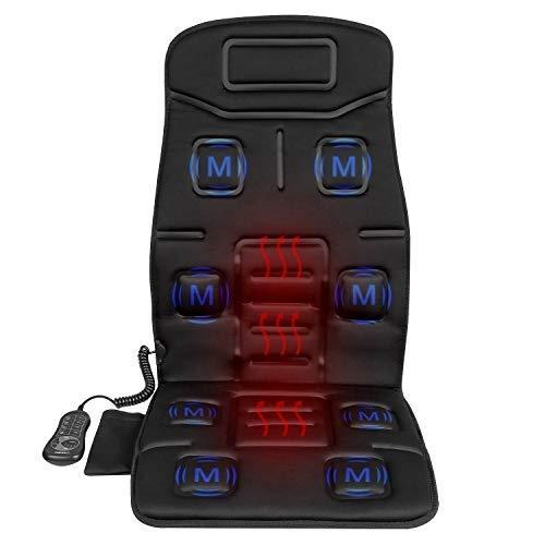 Ysbg Massagekissen Rückenmassagegerät Car Seat Cushion Pad Cover für Full Back und Oberschenkel mit Wärmefunktion und Vibration (Cover Seat Massage Car)