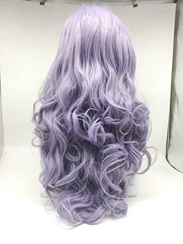 Peluca de color lila pastel de varios colores